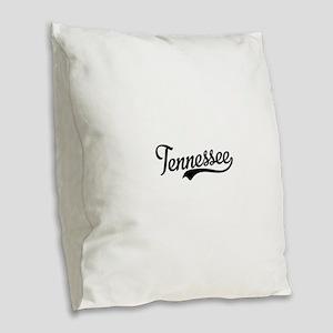 Tennessee Script Burlap Throw Pillow