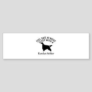 Sleep With Gordon Setter Dog Desi Sticker (Bumper)