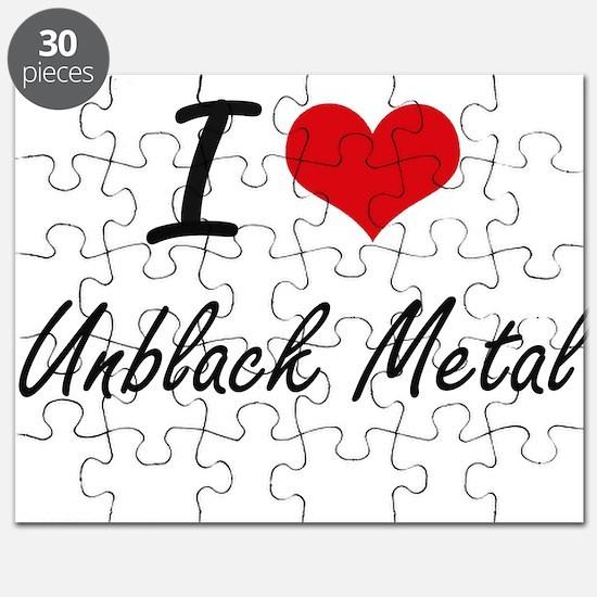 I Love UNBLACK METAL Puzzle