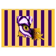 Louisiana State Tiger Eye 3 Poster