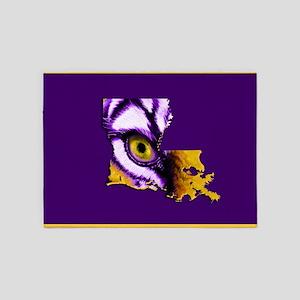 Louisiana State Tiger Eye 5'x7'Area Rug