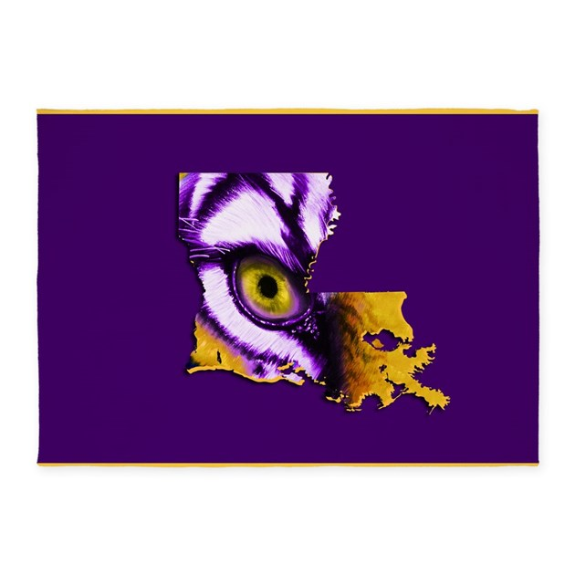 Louisiana State Tiger Eye 5'x7'Area Rug By Admin_CP129519821