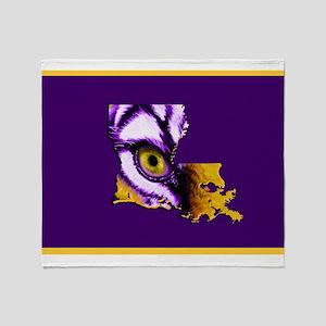 Louisiana State Tiger Eye Throw Blanket