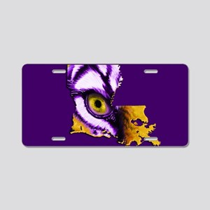 Louisiana State Tiger Eye Aluminum License Plate