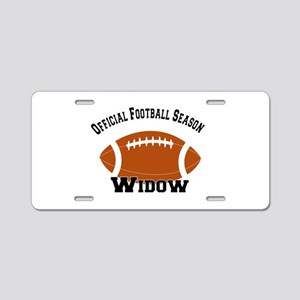 Football Season Widow Aluminum License Plate