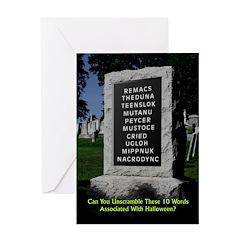 Graveyard Scramble - Halloween Card