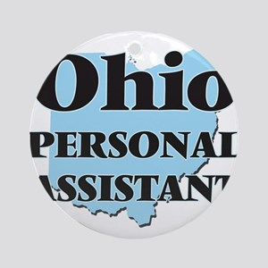 Ohio Personal Assistant Round Ornament