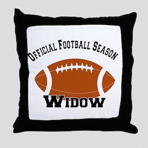 Football Season Widow Throw Pillow