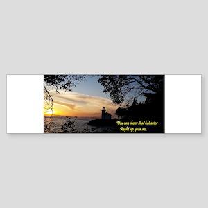 Sunset Lighthouse Bumper Sticker