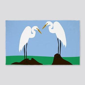 Two Great Egrets Area Rug