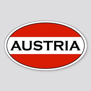 Austrian Stickers Oval Sticker