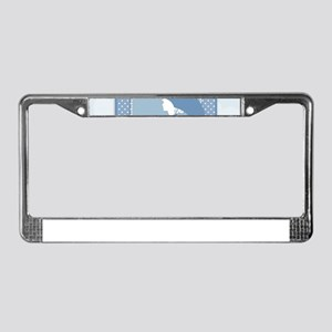 blue pregnancy License Plate Frame