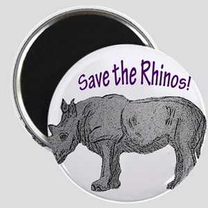 save the rhinos Magnets
