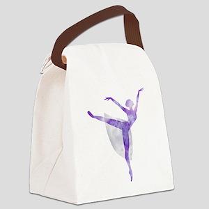 Watercolor Ballerina Canvas Lunch Bag