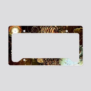 Steampunk, microphone License Plate Holder