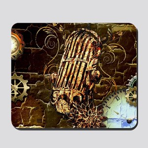 Steampunk, microphone Mousepad