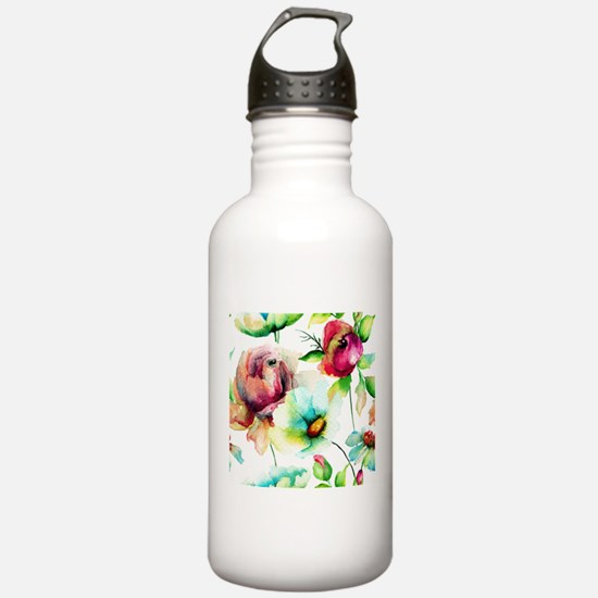 Colorful Watercolors F Sports Water Bottle