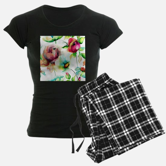 Colorful Watercolors Flowers Pajamas