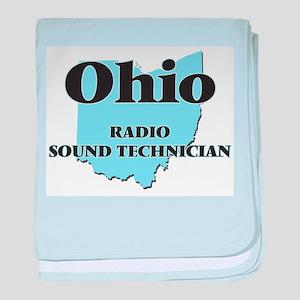 Ohio Radio Sound Technician baby blanket