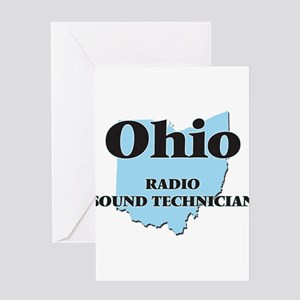 Ohio Radio Sound Technician Greeting Cards