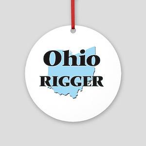 Ohio Rigger Round Ornament