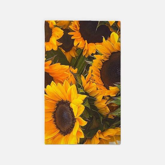 Sunflowers Area Rug