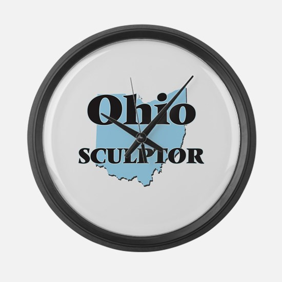 Ohio Sculptor Large Wall Clock
