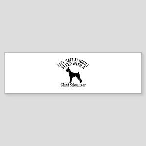 Sleep With Giant Schnauzer Dog De Sticker (Bumper)