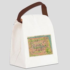 Vintage Map of Edinburgh Scotland Canvas Lunch Bag