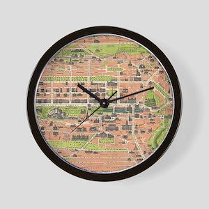 Vintage Map of Edinburgh Scotland (1935 Wall Clock