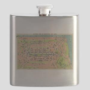 Vintage Map of Edinburgh Scotland (1935) Flask