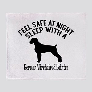 Sleep With German Wirehaired Pointer Throw Blanket