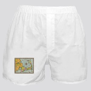 Vintage Map of Cape Cod Boxer Shorts