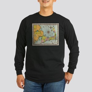 Vintage Map of Cape Cod Long Sleeve T-Shirt