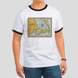 Vintage Map of Cape Cod T-Shirt