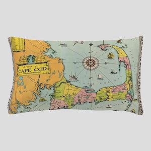Vintage Map of Cape Cod Pillow Case
