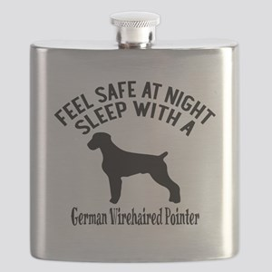 Sleep With German Wirehaired Pointer Dog Des Flask