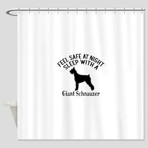 Sleep With Giant Schnauzer Dog Desi Shower Curtain