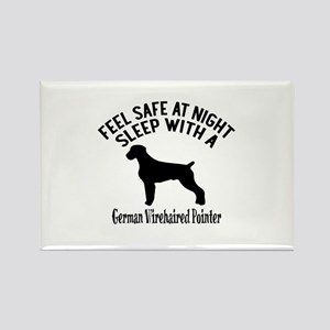 Sleep With German Wirehaired Poin Rectangle Magnet