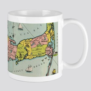 Vintage Map of Cape Cod Mugs