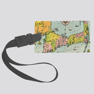 Vintage Map of Cape Cod Large Luggage Tag