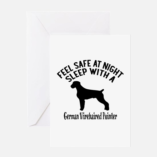 Sleep With German Wirehaired Pointer Greeting Card