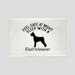Sleep With Giant Schnauzer Dog De Rectangle Magnet