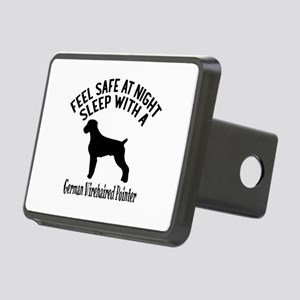 Sleep With German Wirehair Rectangular Hitch Cover