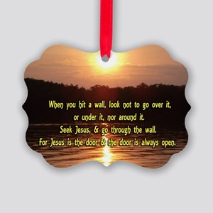 The Wall and Jesus Picture Ornament
