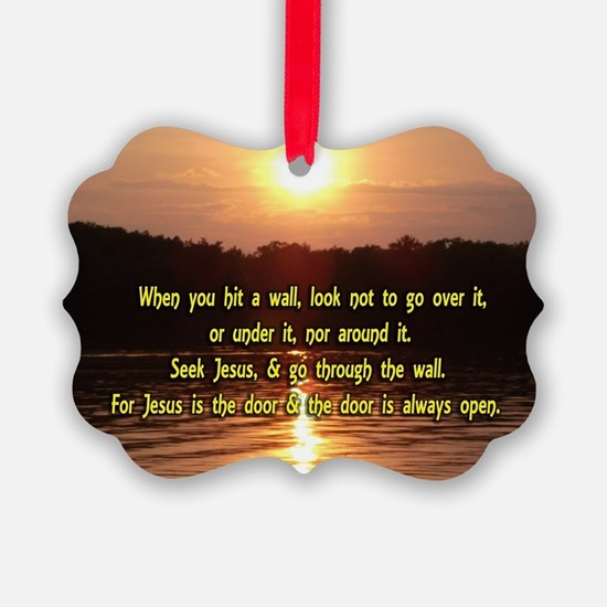 The Wall and Jesus Ornament