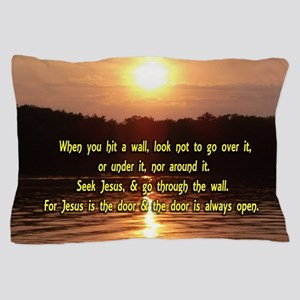The Wall and Jesus Pillow Case