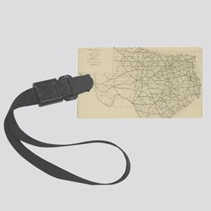 Vintage Texas Highway Map (1919) Large Luggage Tag