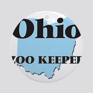 Ohio Zoo Keeper Round Ornament