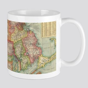 Vintage Map of New England States (1900) Mugs